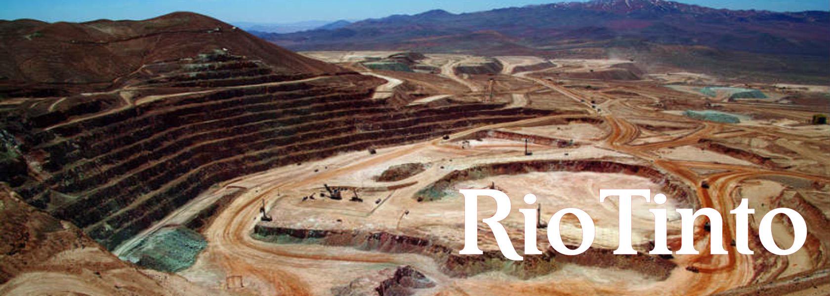 اراضی استخراج مواد معدنی توسط شرکت ریوتینتو