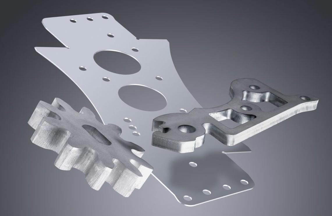 برش لیزری قطعات فولاد با صرف وقت و انرژی کم.